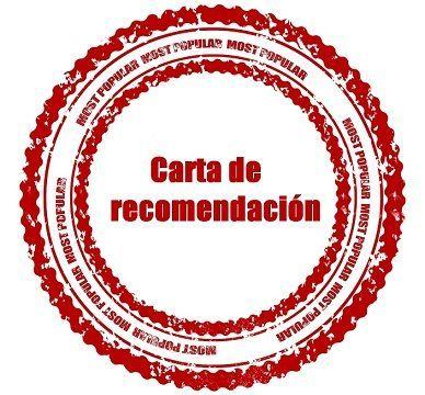 La carta de recomendación