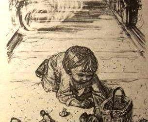 La niña y las setas